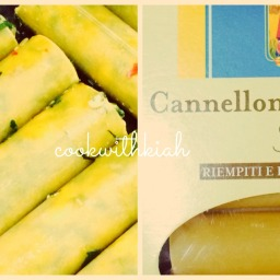 Spinach and Cottage Cheese Cannelloni in Roasted Pepper Sauce  !