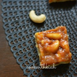 Salted Caramel Cashewnut Bars
