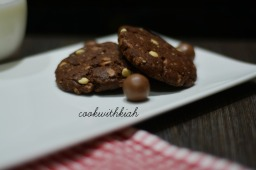 Fudge Malt Cookies
